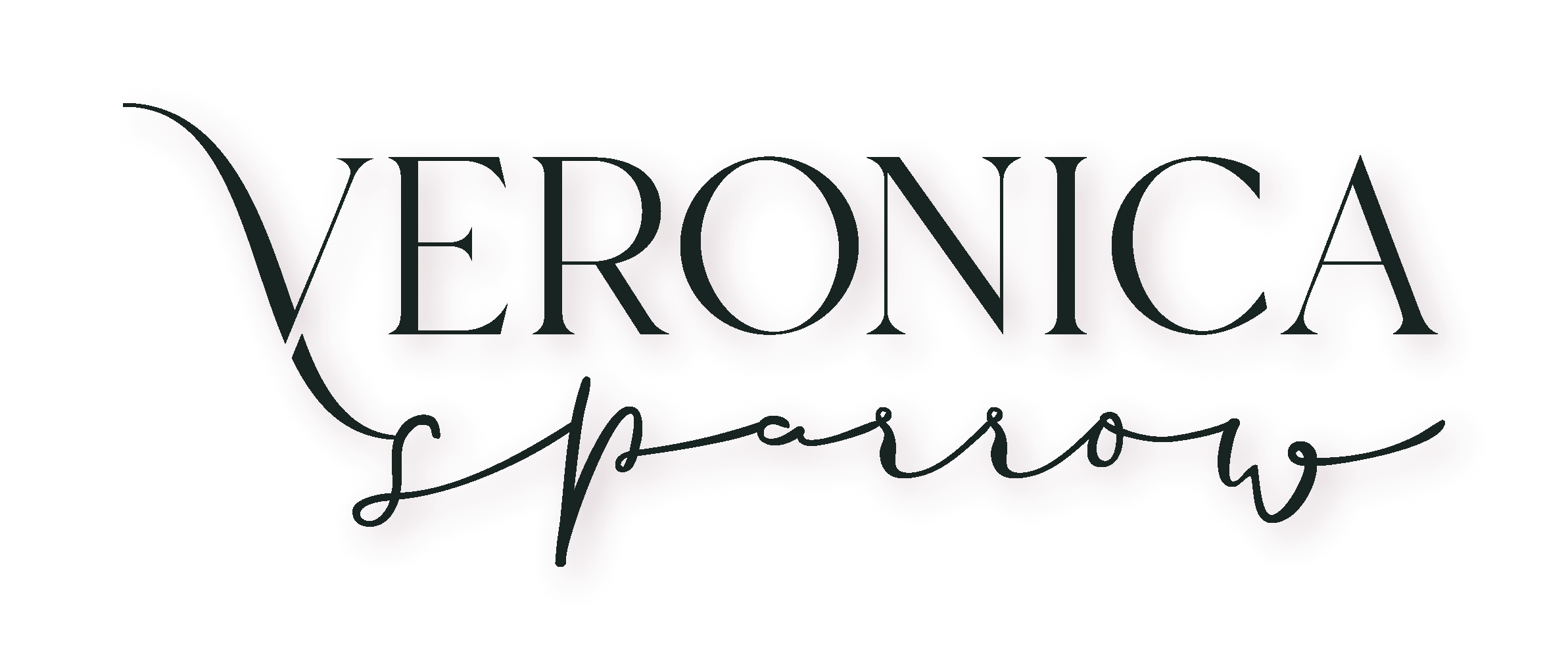 Veronica Sparrow - Wordmark Logo - Deep Green@5x