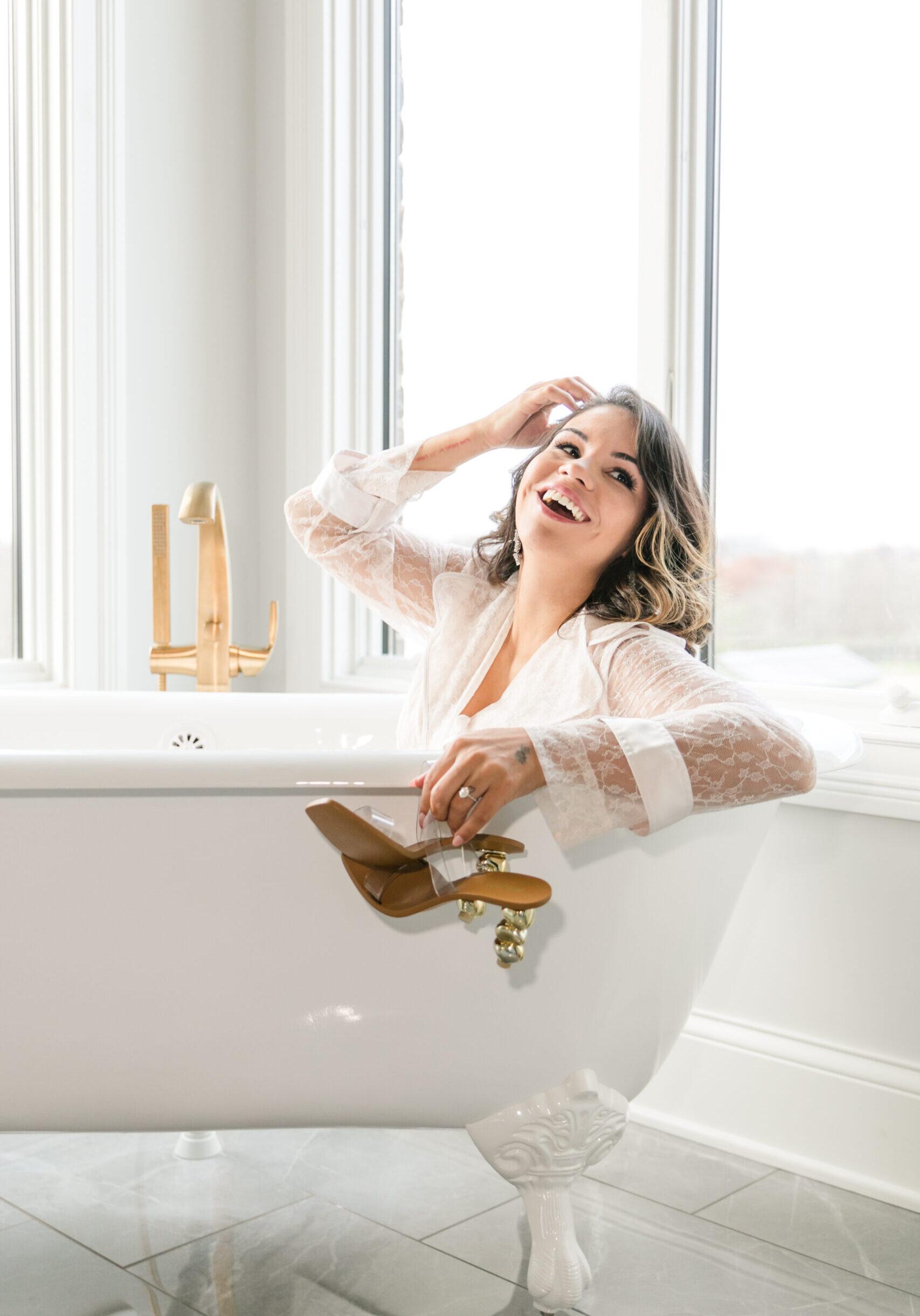 Luxury Bath with a clawfoot bathtub